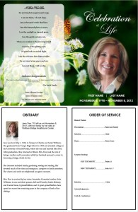 create a funeral program template